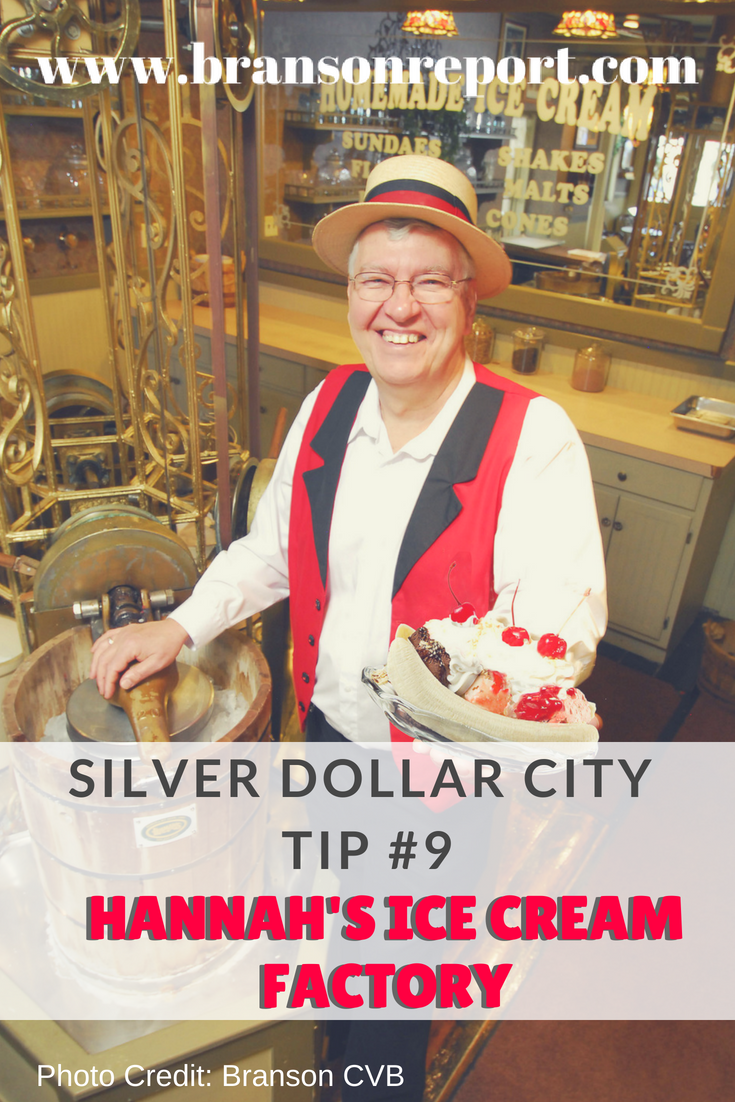 Hannah's ice cream factory at silver dollar city