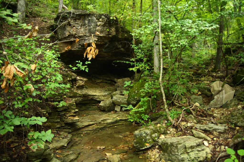 lakeside wilderness trail with cave in branson
