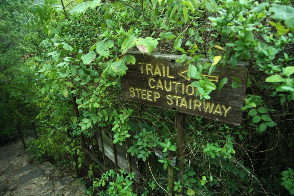 lakeside wilderness area stairs sign