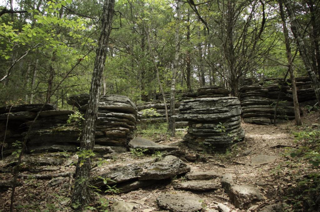 pancake rock at talking rock caverns