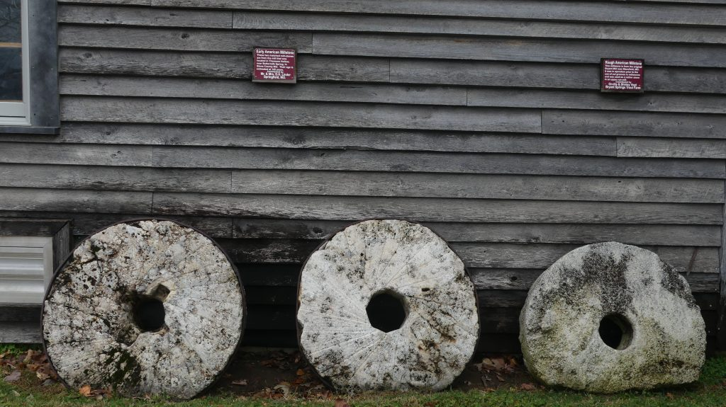 millstones at edwards mill college of the ozarks